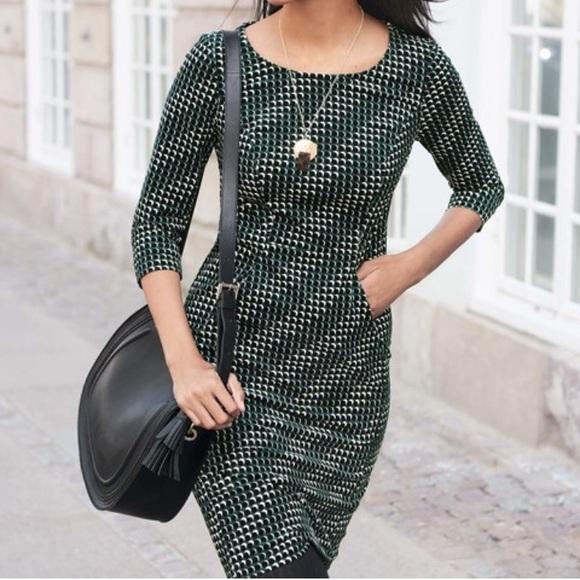 9ba11347db6 Boden Dresses & Skirts - Boden Hannah Seam Detail Dress Dark Green 10L